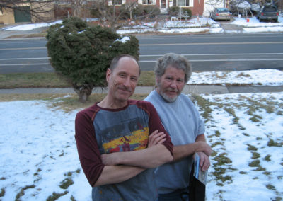 "John Herdt and Al Robinson after working on ""Ratchet Jaw."" December 30, 2013."