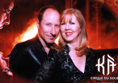 John and Bev Herdt at the Cirque du Soleil KÀ show in Las Vegas on February 17, 2009.