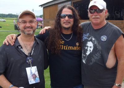 Sal Serio, Stevie Mackel and Dean Christopher backstage at the 2015 Bolin Fest in Sioux City.