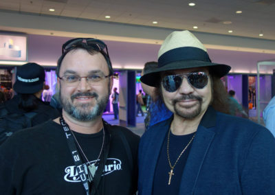 Sal Serio and Lynyrd Skynyrd founder Gary Rossington at NAMM 2014.