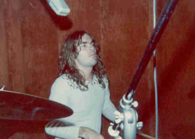 "Bobby Berge at session for ""Private Eyes"" album. June, 1976."