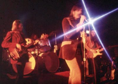 Energy at Tulagi in Boulder, 1972. Stanley Sheldon, Bobby Berge, Jeff Cook and Tommy Bolin.