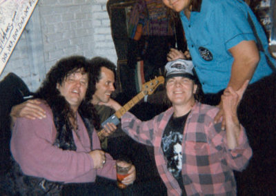 Billy Ryan, Stanley Sheldon, Bobby Berge and Johnny Bolin at Tommy Bolin Tribute show in Denver.