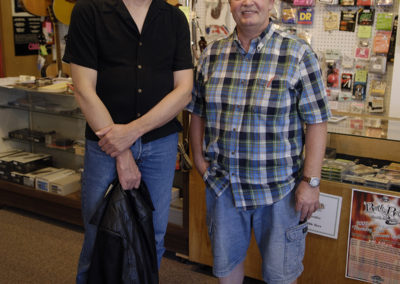 John Herdt and George Larvick at his Larvick Speaker store in Sioux City. August 9, 2007.